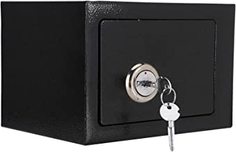 Safe Box for Home, Small Compact Durable Strong High Security Steel Safe Box Key Operated Strong Locking for Home Office P...