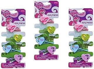 My Little Pony 4 Heart Shape Hair Ponytails on card x 3 Set (total 12 pcs)