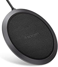 Spigen Wireless Charger Fast Qi Certified 10W Charging Pad Works with iPhone 11/11 Pro/11 Pro Max/Xs MAX/XR/XS/X/8/8 Plus/Galaxy S10,Note 10/S9/S9 Plus/S8 & Other Qi Devices [Adapter NOT Included]