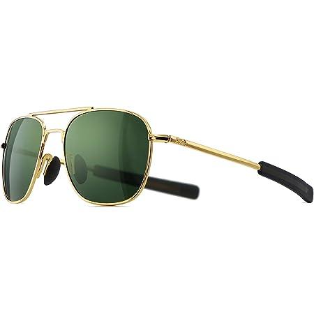 SUNGAIT Men's Military Sunglasses Polarized Pilot Style Bayonet Temples