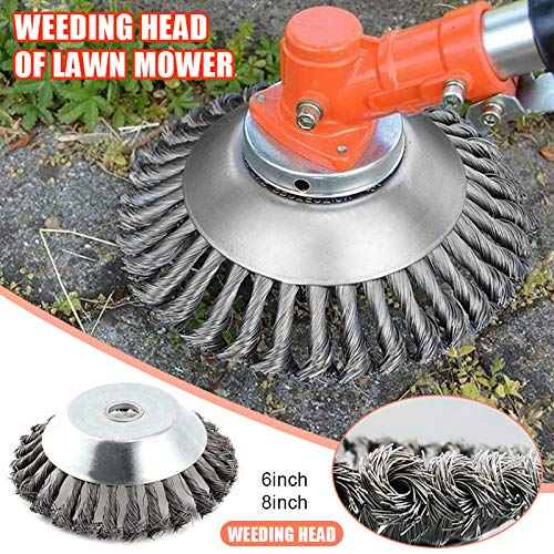 Why Should You Buy Tenflyer Brush Cutter, Grass Cutter, Weed Eater Head, 6/8 Indestructible Trimmer...
