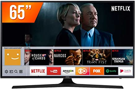 "Smart TV LED UHD 4K 65"", Samsung UN65MU6100GXZD, Preto"