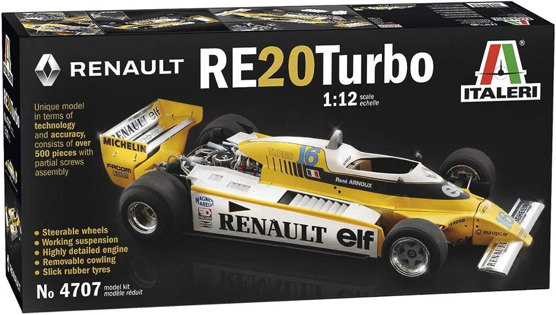 Italeri Renault RE20Turbo Scala 1 12 modello Kit