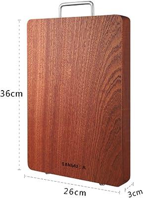 プレミアム 広葉樹 厚い カッティングボード,元に戻せる状態 まな板,無垢材 肉屋のブロック チョッピング食品に最適 Bpa の無料-d 36x26cm(14x10inch)