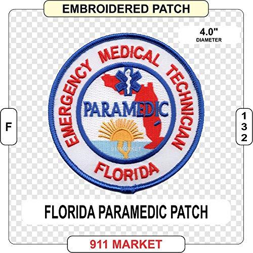 Florida Paramedic Patch EMS FL EMT Medic Rescue Emergency - F 132
