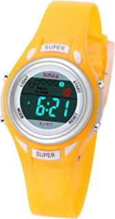 Kids Digital Watch Girls Boys Children Sport Watches Waterproof with EL Light Alarm Stopwatch Toddler Wrist Watch
