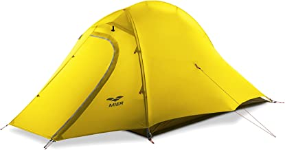MIER 2 Person Camping Tent with Footprint Waterproof Backpacking Tent, Lightweight and Quick Setup