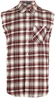men's sleeveless button shirts