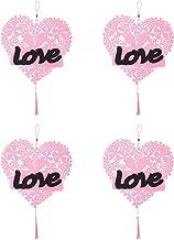 ABOOFAN 4Pcs Pendurado Enfeites de Feltro Do Coração Do Do Coração Forma Artesanato Pendurado Enfeites Com Corda para Font...