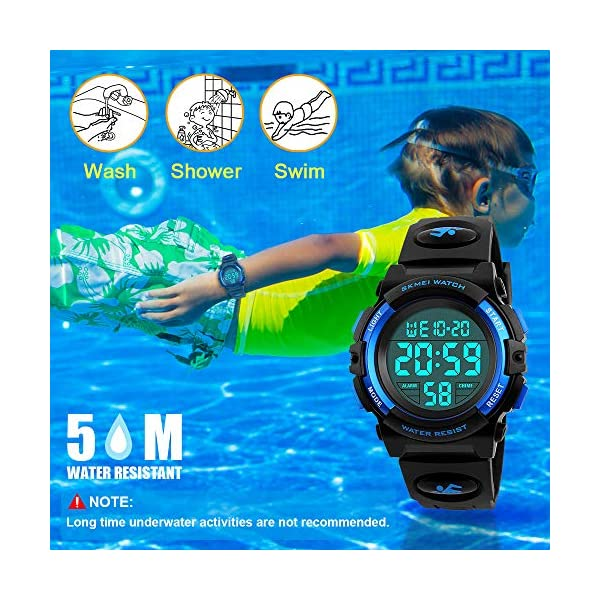 Tesoky Sports Digital Watch for Kids Waterproof Outdoor Children Casual Electronic Wrist Watches with Alarm Stopwatch – Best Gifts