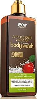 WOW Apple Cider Vinegar Foaming Body Wash - No Parabens, Sulphate, Silicones & Color - 250mL