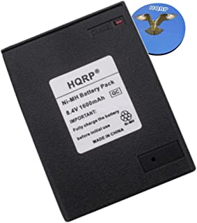 HQRP 1600mAh Ni-MH Battery for Icom IC-M2 / M5 / M11 / M12 Two Way Radio Replacement plus HQRP Coaster