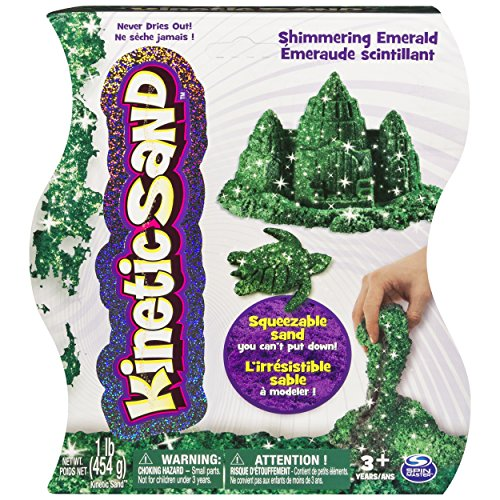 Kinetic Sand, 1Lb Shimmering Emerald Green Magic Sand for Ages 3 & Up