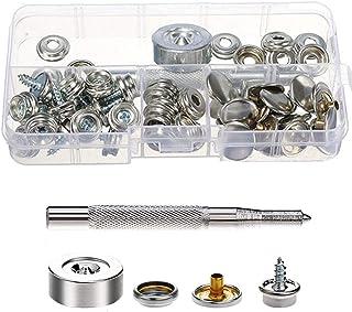 Spiral 15mm Snap Fastener Button 5//8/'/' Schraube Bolzen Reparatur Kit Für Boot