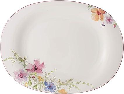 Villeroy /& Boch Mariefleur Gris Basic Moule de cuisson 28 cm Blanc//Multicolore Porcelaine Premium
