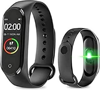 Rizzer M4 Intelligence Bluetooth Wrist Smartwatch Band with Activity Tracker, Bracelet Watch, Smart Fitness Band with Hear...