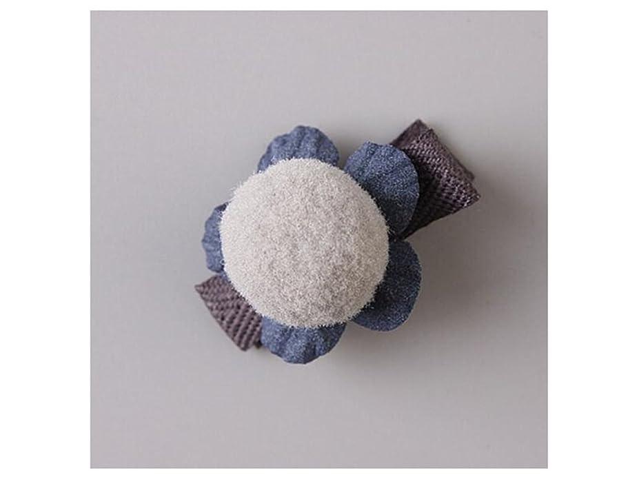 指受信レルムOsize 美しいスタイル 小さな花のヘアクリップ子供のかわいいサイドクリップヘアピンフラワーヘッドドレス(グレー)