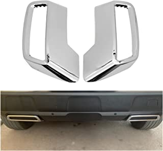 CAIFEIYU Fit for 2017 2018 2019 Peugeot Allure 5008 3008 Chrome Rear Exhaust Muffler Tail End Pipe Cover Trim Decoration S...