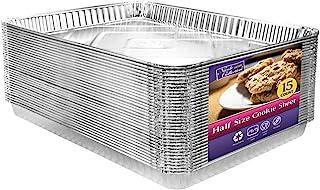 تابه های آلومینیومی ورق کوکی نیم سایز 15 تعداد   ورق پخت غیر استیک مقاوم 17.75 اینچ در 12.75 اینچ