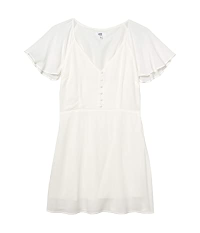 Jack by BB Dakota Rayon Crepe Button Front Dress with Back Smocking (Ivory) Women