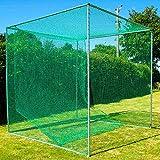 FORB Cage de Golf Autoporteur & Filet Professionnel | Filet d'Entraînement de Golf & Tapis de Practice (3m x 3m x 3m) (FORB Cage + Tapis d'Entraînement)