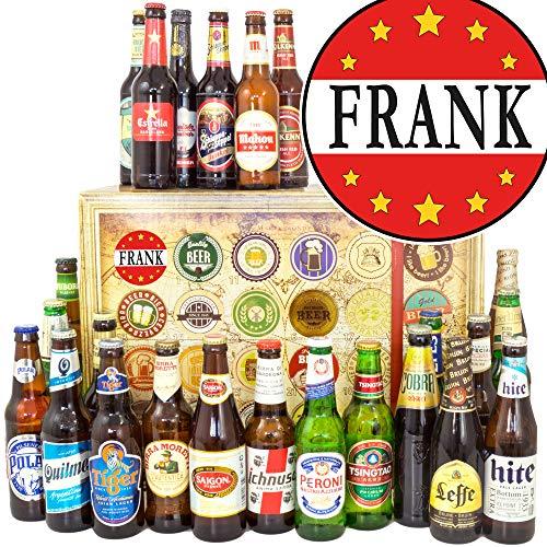 Frank + 24 Biersorten aus Welt + Geschenk Frank + Bier Adventskalender 2019