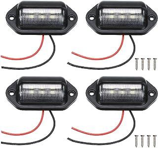 4 Packs License Plate Light, 12V 6 LED Waterproof License...