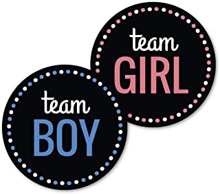 Deluxe Gender Reveal Party Stickers, Team Boy and Team Girl, Baby Shower Voting Labels, Party Supplies Decorations Games, Pink and Blue 60 Pack- 30 of each design