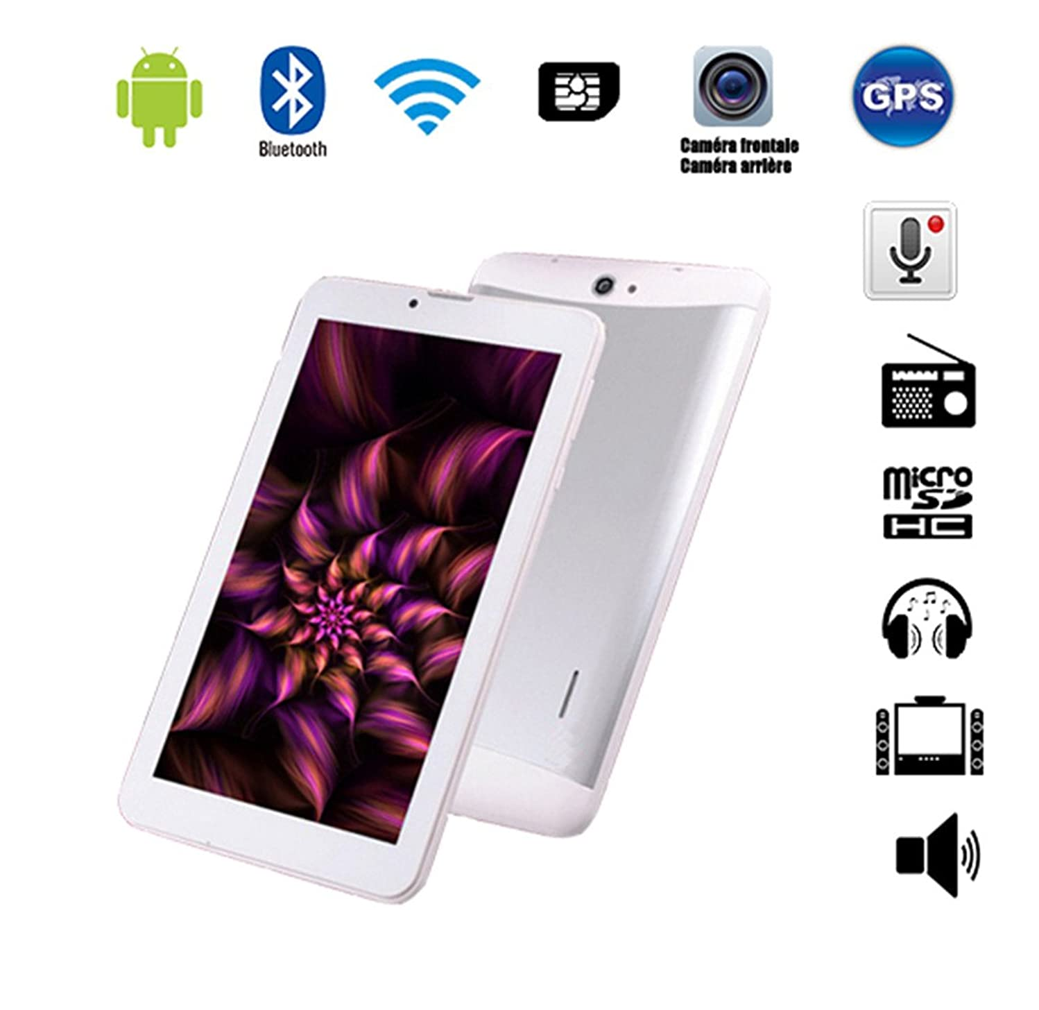 Tablet Tactile Phablet Smartphone(Unlocked) Double SIM 7