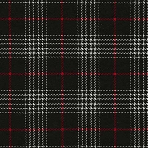 Timeless Treasures Fabrics Tailor Made Cotton Flannel Plaids Black Glen Plaid