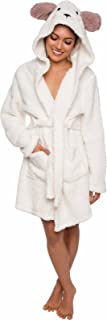 Silver Lilly Women's Animal Hooded Robe - Plush Short Lamb Bathrobe