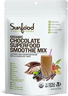 Sunfood Superfoods Chocolate Superfood Smoothie Mix- Organic. 8 oz Bag