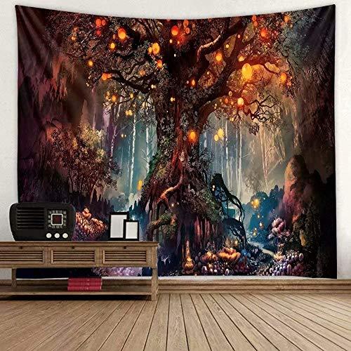 VIHII Wandteppich Tapisserie Multicolored Fantasy Wandbehang Wandtuch, für Pavillon Strandhaus,Wandteppich mit detailliertem Druck für Picknick Strand 1 Stück,150X130cm,Wandteppich Psychedelic