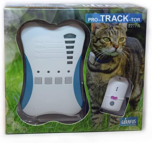Girafus PRO-Track-Tor Localizzatore Gatto/Senza Abbonamento/Tracciatore Cercatore Localizzazione Preciso RF per Anima...