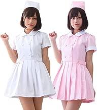【 サイズ選べる 】monoii ナース 服 コスプレ ピンク セクシー ナースコス カチューシャ 衣装 ハロウィン 女医 白衣 仮装 かわいい c933
