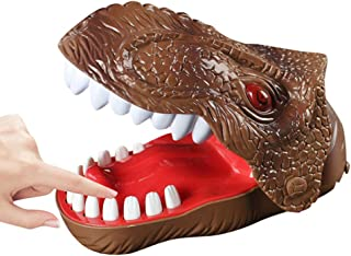 Highpot Dinosaur Bite Finger Game for Kids Dinosaur Dentist Funny Party Game Toy Brown