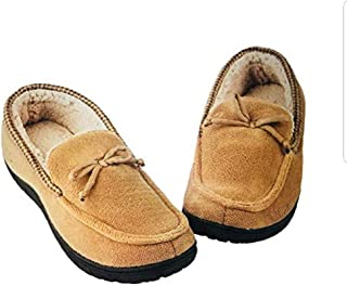 Toasties Men's Memory Foam Slippers Sandstone XL