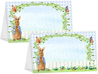 POP parties Peter Rabbit Table Tents - 12 Peter Rabbit Buffet Cards - Peter Rabbit Place Cards - Peter Rabbit Decorations - Peter Rabbit Party Decorations - Peter Rabbit Party Supplies