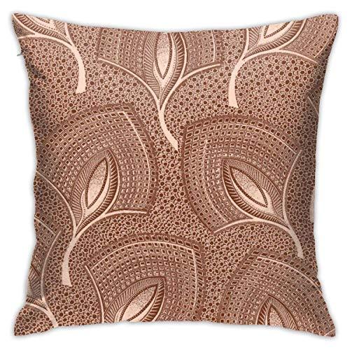 maichengxuan Funda de almohada con estampado de hojas tropicales, fundas de almohada, fundas de almohada, fundas de almohada de suelo, fundas de cojín, fundas de cojín de coche