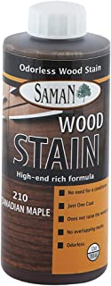 SamaN Interior Water Based Stain for Fine Wood, Canadian Maple, 12 oz