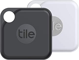 Tile Pro (2020) Bluetooth Schlüsselfinder, 2er Pack, 120m Reichweite, 2 Jahre Batterielaufzeit, inkl. Community Suchfunktion, iOS und Android App, kompatibel mit Alexa und Google Home;1xschwarz,1xweiß