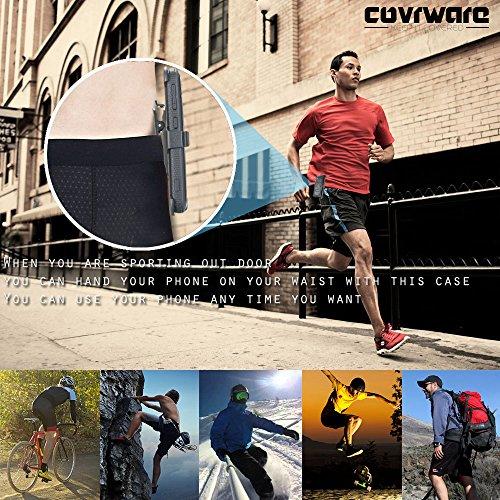 COVRWARE LG V20 [Aegis Series] with Built-in [Screen Protector] Heavy Duty Full-Body Rugged Holster Armor Case [Belt Swivel Clip][Kickstand] for LG V20 - Black