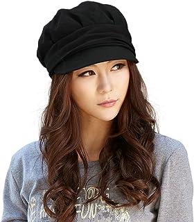 Womens Newsboy Cabbie Beret Cap Cloche Cotton Painter Visor Hats Summer