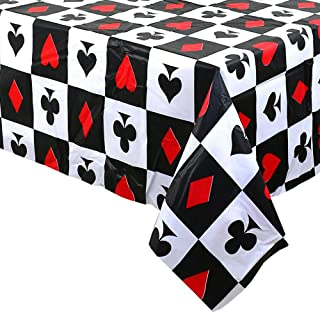 Casino Poker Game Themed Birthday Party Decorations -Plastic Table Cover for Arts & Crafts, Poker Patrol Party Supplies fo...