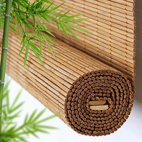 ABCWY Rollo Bambus, Lichtfilter-Rollläden Mit Volant, Bambusjalousien, Trennwände Im Japanischen Stil, Shading Bambus Jalousien,Verschiedenen Größen Erhältlich
