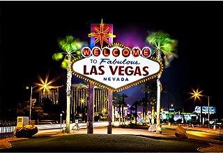 Yeele 10x8ft Photography Background Las Vegas City Night Landscape Fabulous American Landmark Nevada Casino Gambling Town Cloth Vinyl Photo Booth Backdrop Wallpaper