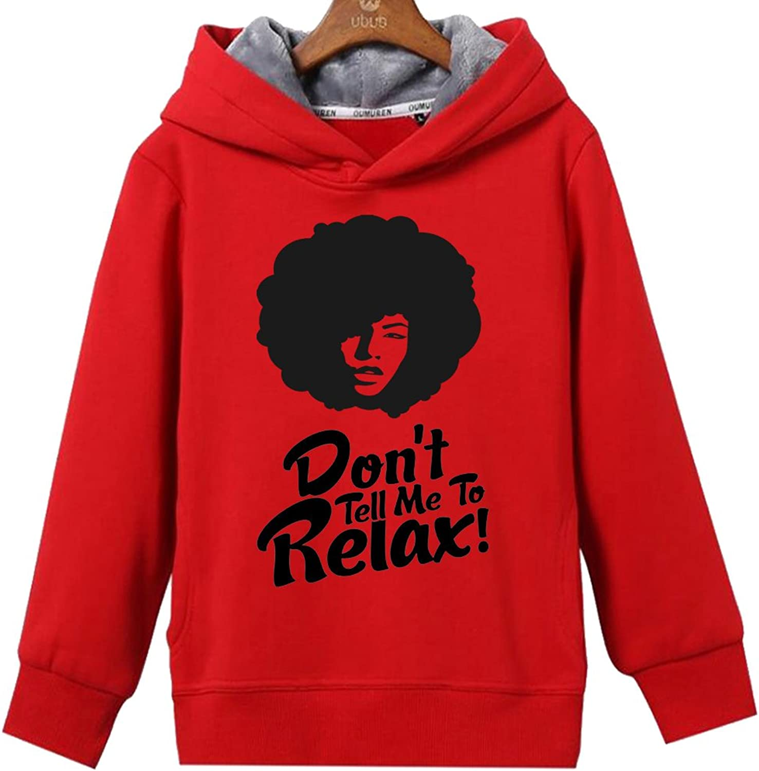 CINFAN Women's Natural Hair Don't Tell Me To Relax Hoodie with Pockets