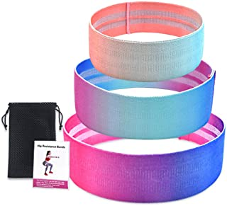 Bundle of 2, Decdeal 3PCS Sports Exercise Resistance Loop Bands Set Elastic Booty Band Set for Yoga Home Gym Training