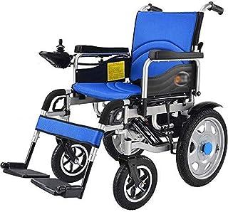 Sillas de ruedas eléctricas para adultos Pesado Silla de ruedas eléctrica, plegable, 34 kg silla de ruedas ligera de alimentación, 360 ° Rocker, Anchura del asiento 45 cm, soporte 120 Kg, 4 ruedas Amo
