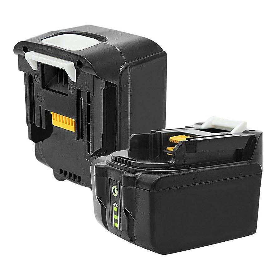 ストライプ助言する配管工マキタ 14.4v バッテリー bl1460b【2個セット】 6.0Ah マキタ互換バッテリー LED残量表示付き BL1430 BL1450 BL1460 BL1430B BL1440B BL1450Bに純正互換品対応 作業工具バッテリー 電池 長期1年安心保証付き【THiSS】